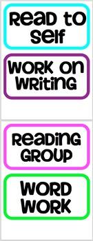 Reading Rotation Board (Editable)