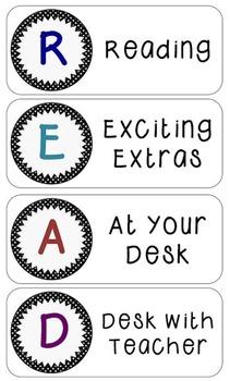 Reading Rotation Board - Editable