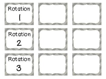Reading Rotation Choice Cards (Chevron Gray)