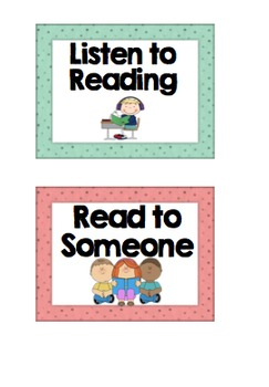 Reading Rotation Groups Display Cards - EDITABLE - daily five 5, others
