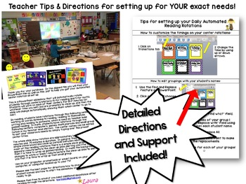 Reading Rotation Powerpoint for 6 Centers/Guided Reading Busy Bees