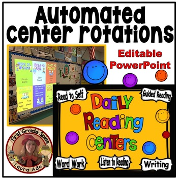 Reading Rotation Powerpoint for Centers & Guided Reading Bright Smiles Design
