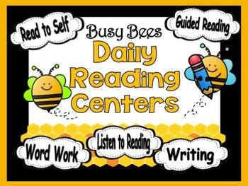 Reading Rotation Powerpoint for Centers & Guided Reading Busy Bees