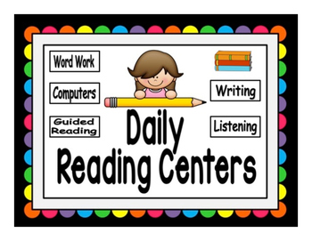 Reading Rotation Powerpoint for Centers & Guided Reading Rainbow Design
