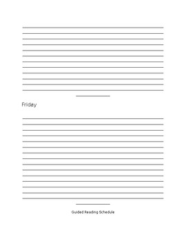 Reading Rotation and Response Template