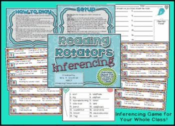 Reading Rotators Inferencing / Inferring Game for Your Whole Class!