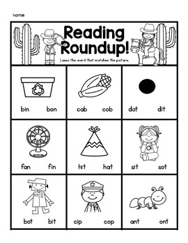 Reading Roundup! A fun way to practice reading CVC words accurately.