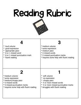 Reading Rubric