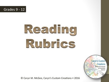 Reading Rubrics (ELA/Common Core Aligned)