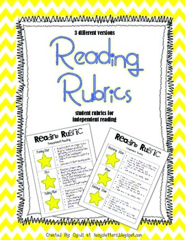 Reading Rubrics for Independent Reading