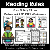 Reading Rules | COVID 19 Classroom Safety Posters