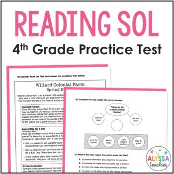 Reading SOL Practice Test (SOL 4.4, 4.5 & 4.6)