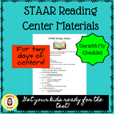 Reading STAAR Centers Checklist and Materials List plus links to Paid Materials