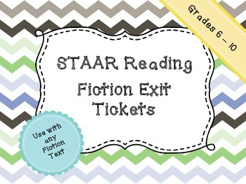 Reading STAAR Fiction Exit Tickets
