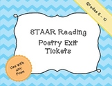 Reading STAAR - Poetry Exit Tickets
