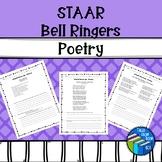 STAAR like Reading Poetry Warm Ups - Middle School