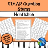 "STAAR ""like"" Reading Question Stem Cards - Nonfiction - Grades 6-8"