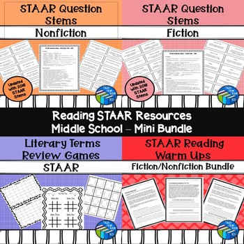 STAAR Reading Resources - Middle School - Bundle