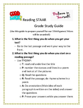 Reading STAAR Review 3rd and 4th