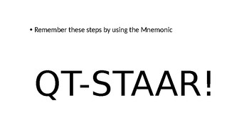 Reading STAAR Strategy PowerPoint (Prepared Mini-Lesson)