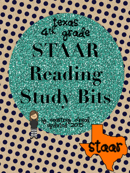 STAAR Reading Study Bits for foldables, flashcards, etc.