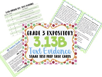 Reading STAAR Test Prep Expository/Informational BUNDLE! 3rd Grade