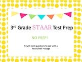 Reading STAAR Test Prep Task Cards