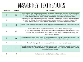Reading STAAR Test Prep Task Cards: Text Features TEK 3.13D