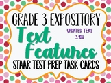 Reading STAAR Test Prep Task Cards: Text Features TEKS 3.9Dii UPDATED