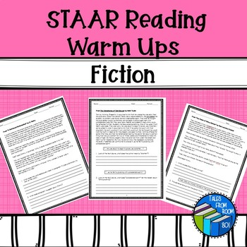 STAAR like Reading Warm ups Fiction