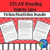 STAAR like Reading Warm ups - Fiction & Nonfiction Bundle