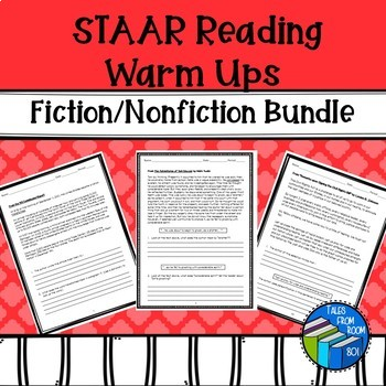STAAR like Reading Warm ups - Fiction & Nonfiction Bundle