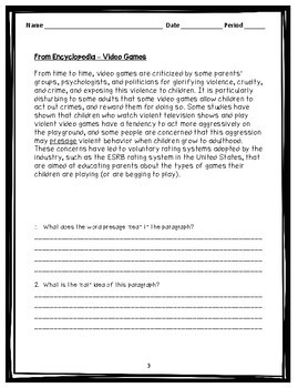 STAAR Reading Bell Ringers - Nonfiction