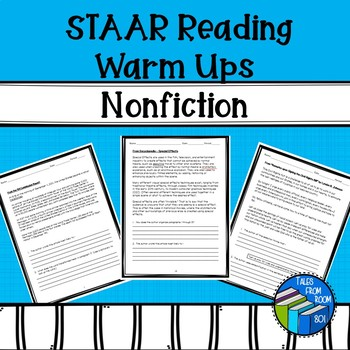 STAAR like  Reading Warm ups Nonfiction