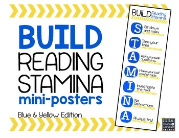 Reading STAMINA Mini-Posters (Blue & Yellow)