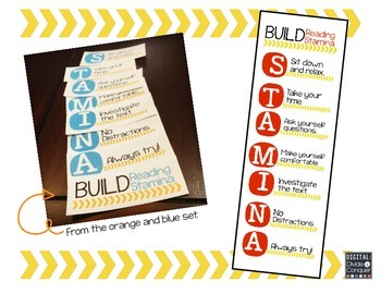 Reading STAMINA Mini-Posters (Red & Yellow)