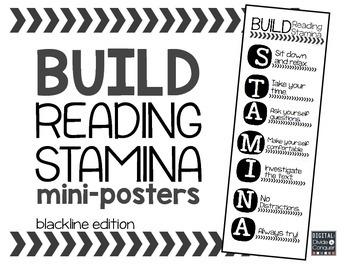Reading STAMINA Mini-Posters (blackline)