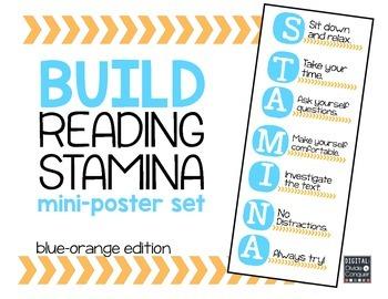 Reading STAMINA Mini-Posters (blue and orange)