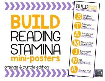 Reading STAMINA Mini-Posters (orange and purple)