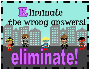 Reading SUPERHERO SWAG posters! **Test taking tips and strategies**