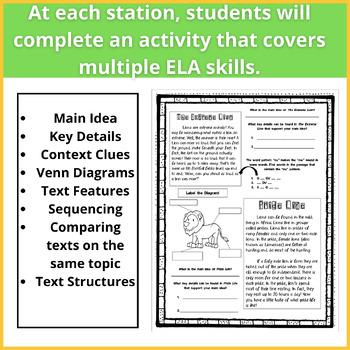 Reading Safari: ELA Core Skills Review- comparing texts, context clues, MORE