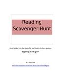 Reading Scavenger Hunt (single) :  Beginning Fourth Grade