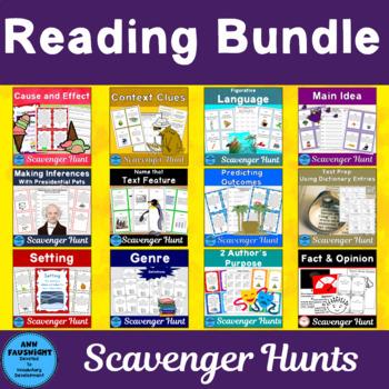 Reading Bundle Scavenger Hunts