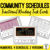 Reading Schedules In The Community Task Clip Cards Life Skills