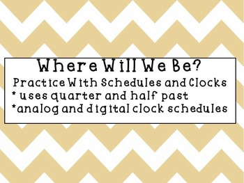It's Time! Practice Reading Schedules with Analog Clocks a