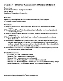 Reading Science Teaching Strategies GOLD® Aligned Lesson Plan
