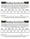 Reading Scoreboard (Reading Log)