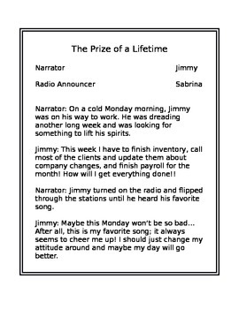 Reading Script- The Prize of a Lifetime