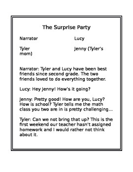 Reading Script- The Surprise Party