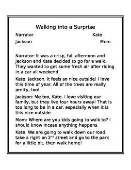 Reading Script- Walking into a Surprise